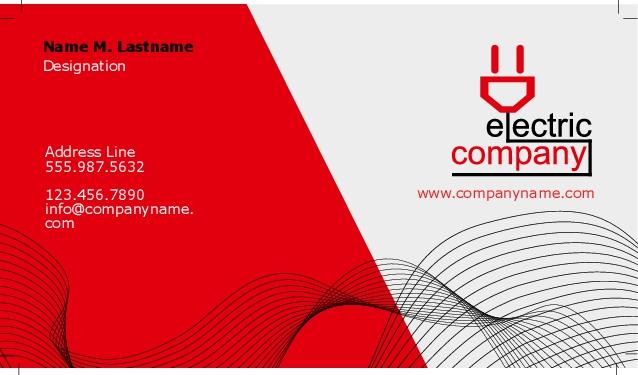 High quality business cards electriccompany colourmoves